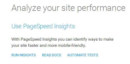 Скорость загрузки сайтов от гугл