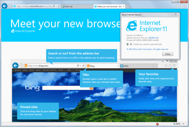 Установка последней версии Internet Explorer на Windows 7