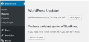Обновление сайта как способ защиты сайта WordPress от взлома