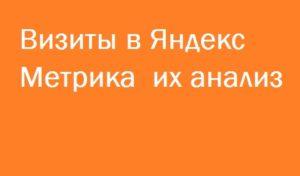 Визиты в Яндекс Метрика и анализ